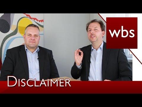 Disclaimer im Online-Shop können abgemahnt werden | Im Interview mit Dr. Carsten Föhlisch