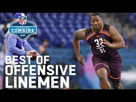 Best of Offensive Linemen Workouts! | 2019 NFL Combine Highlights