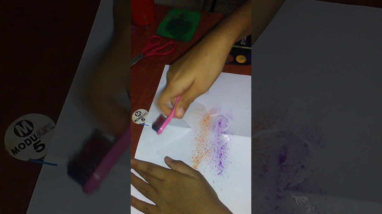 Como dibujar una mariposa con pintura abstracta. 👍 - YouTube