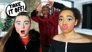 I DID MY MAKEUP HORRIBLY TO SEE HOW MY DAD WOULD REACT!!