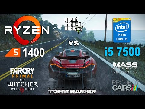 Ryzen 5 1400 OC vs i5 7500 Test in 6 Games (GTX 1060)
