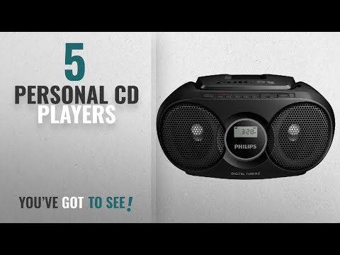 Top 10 Personal Cd Players [2018]: Philips AZ215B Portable CD Player with Radio, Jack (3.5 mm),