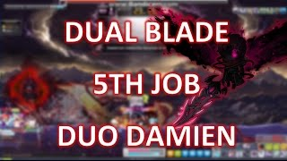 MapleStory - Dual Blade 5th Job Damien duo  ft. Mapu (bowmaster)