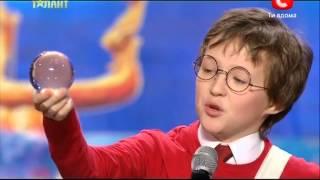 'Україна має талант-5'.Арсений Журавель-Harry Potter in 99 seconds cover [30.03.13] [Днепропетровск]