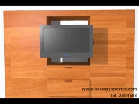 como instalar empotrar tv lcd led en mueble armario closet.wmv - YouTube