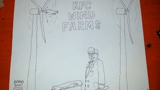 How to Draw Colonel Sanders KFC Wind Farm Speed Draw