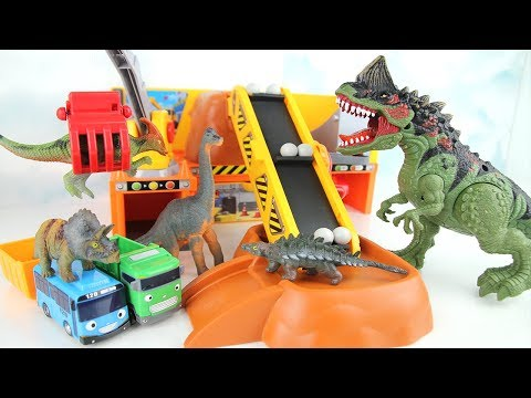 Dinosaurs & Truck Toys For Kids   Let's defeat the dinosaurs together! Dinosaur Crane excavator Tayo