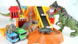 Dinosaurs & Truck Toys For Kids | Let's defeat the dinosaurs together! Dinosaur Crane excavator Tayo