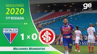 FORTALEZA 1 X 0 INTERNACIONAL | MELHORES MOMENTOS | 11ª RODADA DO BRASILEIRÃO | ge.globo