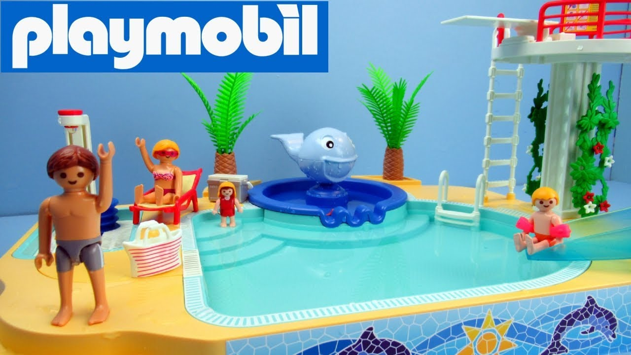 Zwembad Playmobil 4858 Playmobil Childrens Pool With Whale Fountain 5433 Toy Review And Unboxing