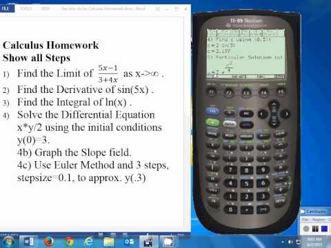 Do calculus homework