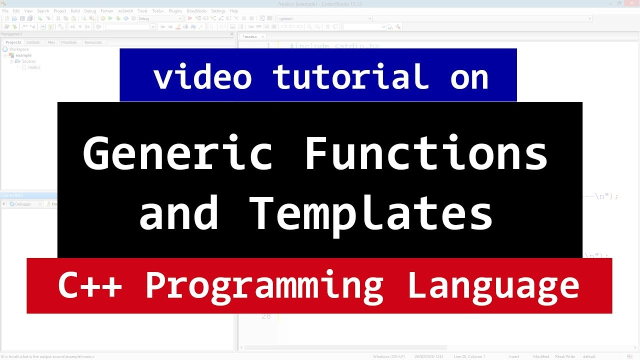 Generic Programming in C++ and Templates | CPP Video Tutorial - YouTube