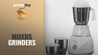 Mixers Grinders Prime Day 2018: Lifelong Power Pro 500-Watt Mixer Grinder with 3 Jars (White/Grey)