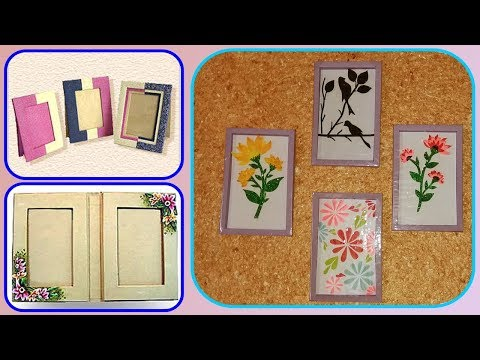 Make Awesome Photo Frame with Paper / DIY Paper Photo Frame Making Easy tutorial