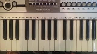 Обучение песни на синтезаторе