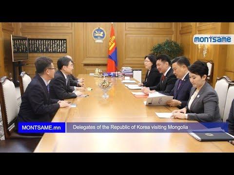 Delegates of the Republic of Korea visiting Mongolia