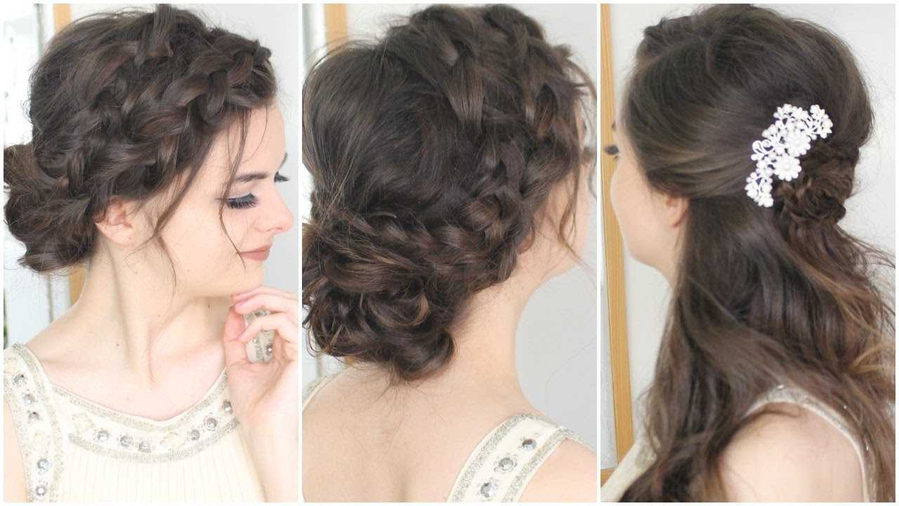 Prom Hair Tutorial 2 Variations Youtube