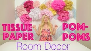 How To Diy Tissue Paper Pom Pom Room Decor