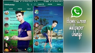 Gambar cover WhatsApp fm home screen wallpaper change