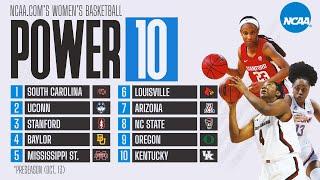 Women's basketball rankings: south carolina leads preseason power 10