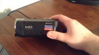 sony handycam hdr cx405 camera unboxing