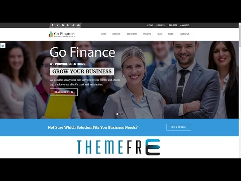 GO FINANCE Consultant, Business, Finance, Corporate Service WP Theme