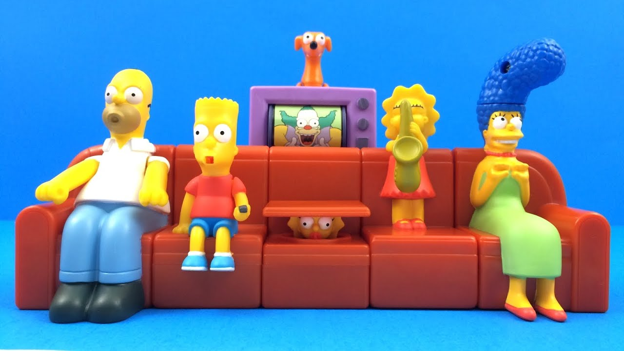 The Simpsons Couch A Bunga 2008 Burger King Complete Set Of 6 Kids Meal Toys Review Youtube