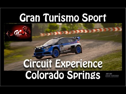 Gran Turismo Sport | Circuit Experience | Colorado Springs in the Ford Focus Rally Car | All Golds