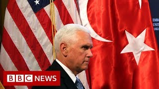 Turkey to suspend Syria offensive, Mike Pence announces - BBC News