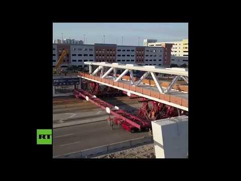 Así se construía el puente que se desplomó en Florida y dejó varios muertos