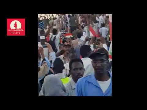 Freedom Train from Atbara to Khartoum 21 04 2019 RD compilation