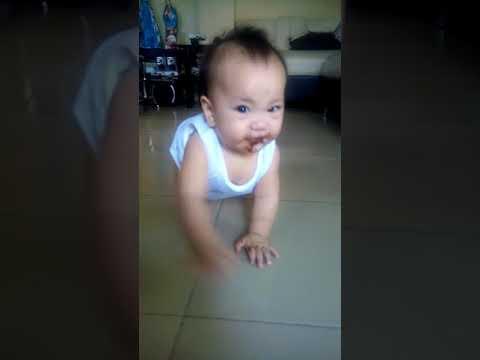 9 months old baby amiya, she ate chocolate's! So cute!!!