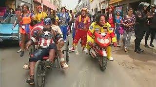 Процессия клоунов прошлась по улицам столицы Перу (новости)