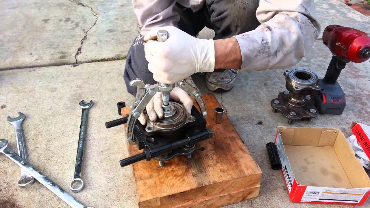 Diy G35 Rear Wheel Bearing Separation From Hub Youtube