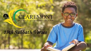 13th Sabbath Memory Verses // Children's Ministries // July - September 2020
