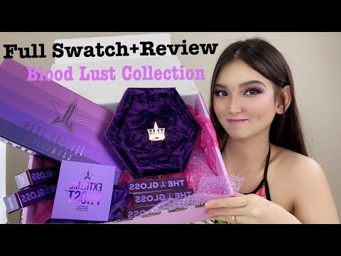 JEFFREE STAR BLOOD LUST COLLECTION! FULL SWATCHES + REVIEW | DENISE WU