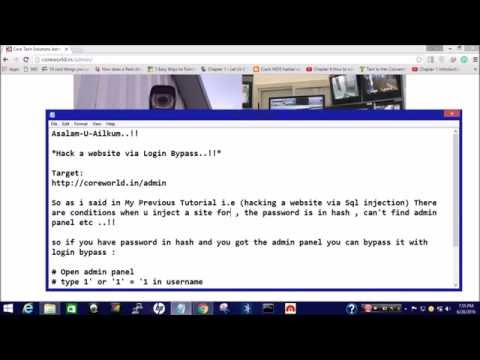How To HaCk A Website Via Login Bypass (Sql Injection)