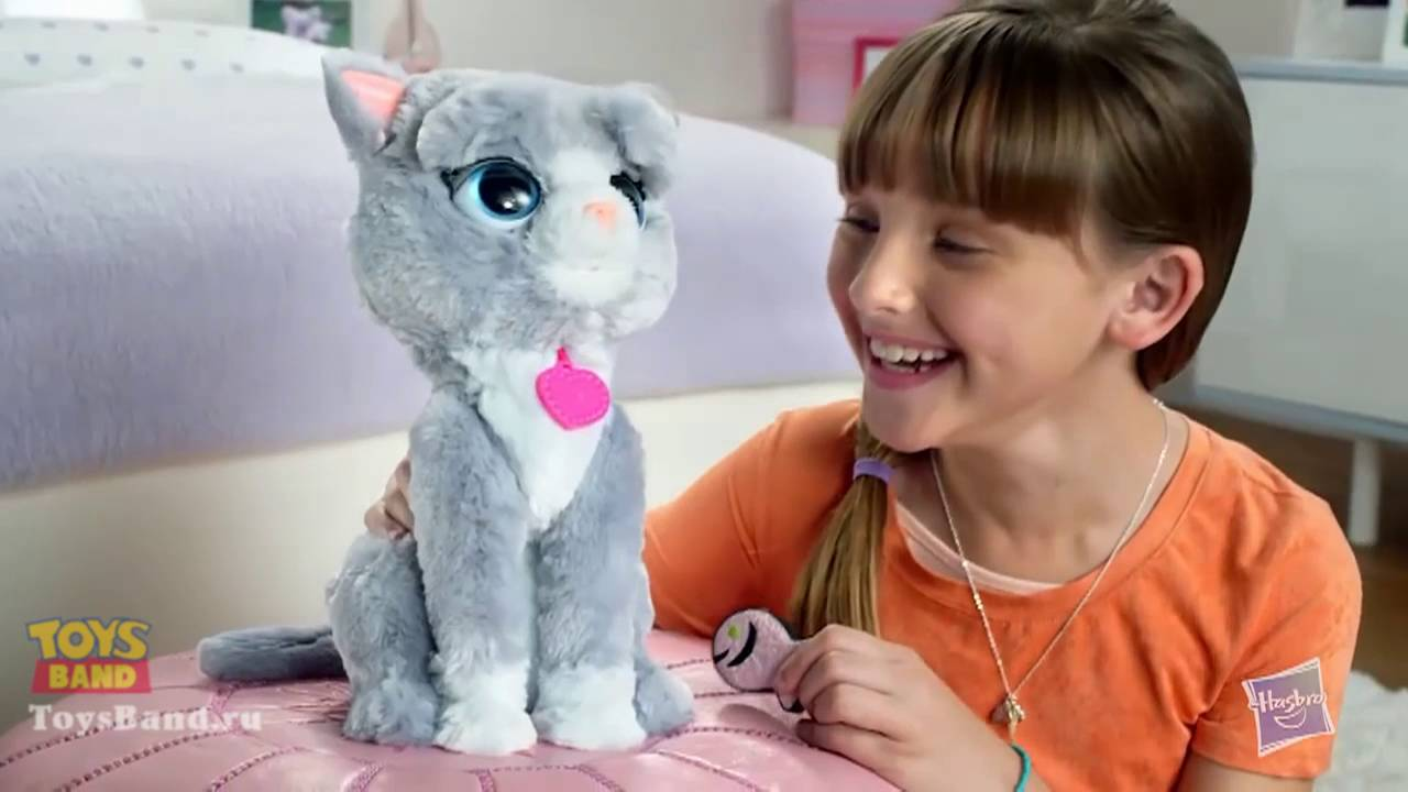 Интерактивный котенок Бутси (Bootsie) FurReal Friends от NEW Hasbro 2016 г.  - YouTube 2d6dda1615cb3