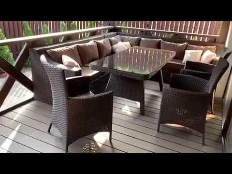 Садовая мебель из искусственного ротанга от производителя. Комплект для отдыха из ротанга.