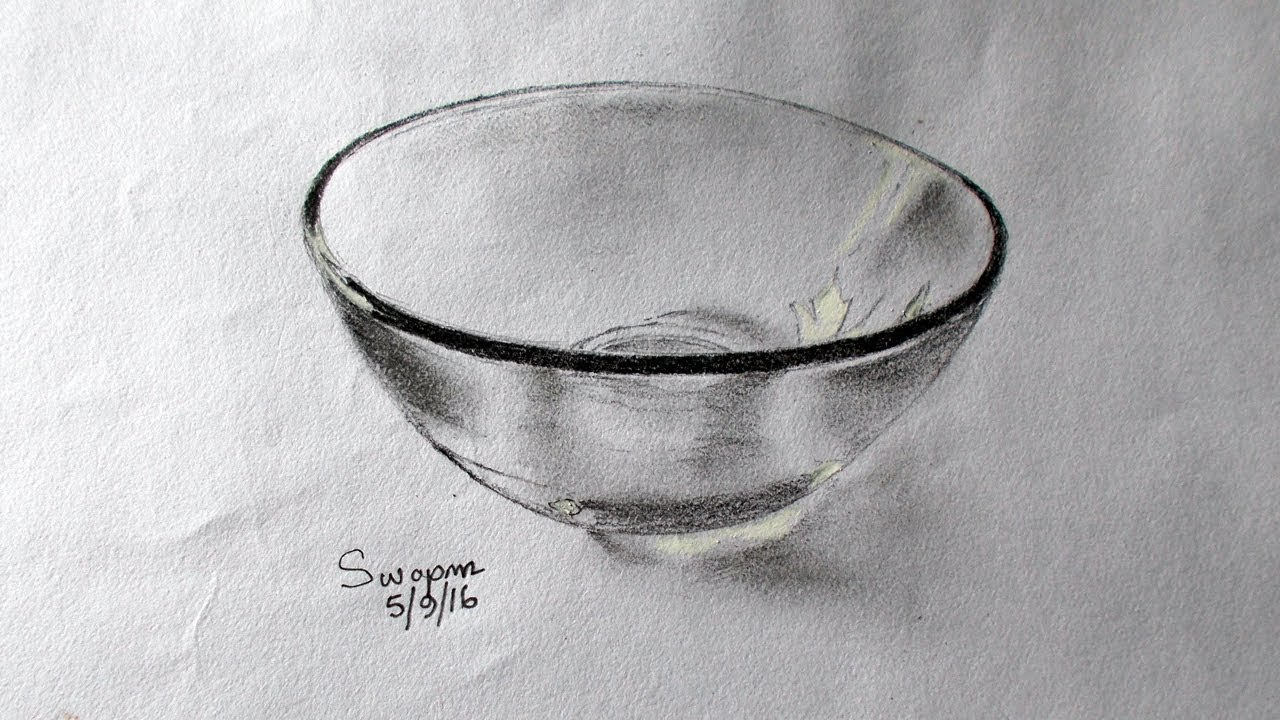Scribble Drawing Objects : How to draw glass drawing a transparent object youtube