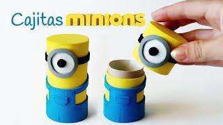 Repeat youtube video Manualidades: Cajitas MINIONS con tubos de cartón - Innova Manualidades