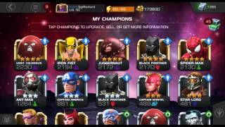 Marvel: Contest of Champions Rank Up 4* Hawkeye 4/40 with Info