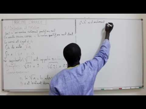 Cours -Troisième - Mathématiques : RACINE CARREE 2eme Partie