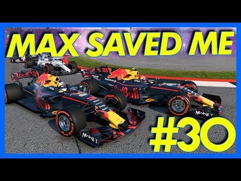 F1 2017 Career Mode : VERSTAPPEN SAVED THE RACE!! (Part 30)