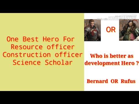 Clash Of Kings : Best Hero For Development (cok)