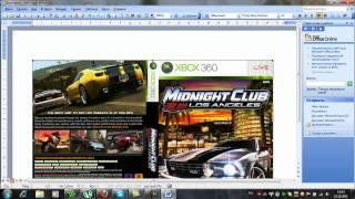 Как сделать DVD обложку через Microsfot Office Word.