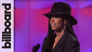 Kelly Rowland Introduces Kelly Clarkson at Billboard's Women in Music 2017
