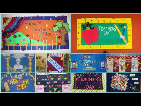 Teacher S Day Display Board Ideas For School Teacher S Day Display