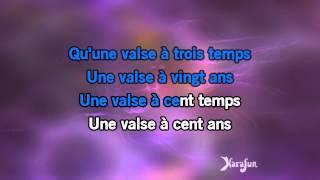 Karaoké La valse à mille temps - Jacques Brel *