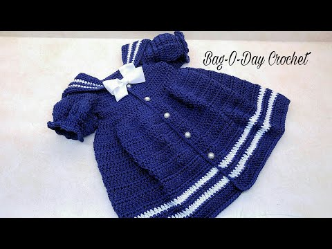 Learn How To Crochet The Lil Sailor Dress Toddler Girl Baby Dress Tutorial